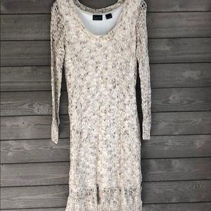 Lose knit sweater dress
